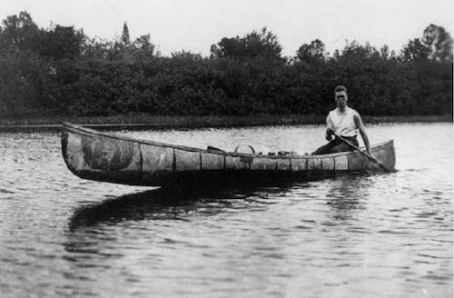 franklin in boat